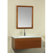 "Rebecca 37"" Single Wall Mount Bathroom Vanity Set"