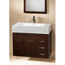 "Modular Bella 61.6"" Wall Mount Bathroom Vanity Set"