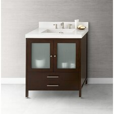 "Contempo Juno 30"" W Bathroom Dark Cherry Vanity Cabinet"