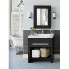 "Contempo Kendra 31.63"" W Wood Black Vanity Set"