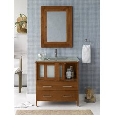 "Contempo Minerva  32.3"" W Bathroom Cinnamon Vanity Set"