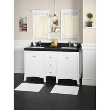 "Hampton 61"" Double Bathroom Vanity Set"