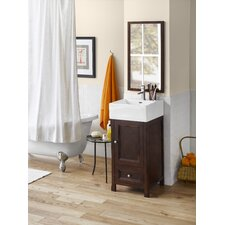 "Popular Juliet 18"" Single Bathroom Vanity Set with Mirror"