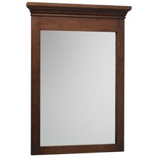 Neo Classic Transitional Café Walnut Framed Mirror