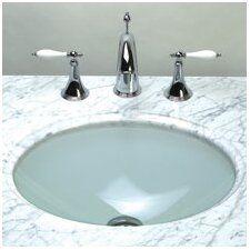 Undermount Oval Glass Vessel Bathroom Sink