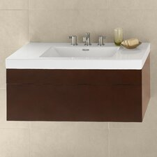 Ceramic Rectangle Bathroom Sink with Overflow