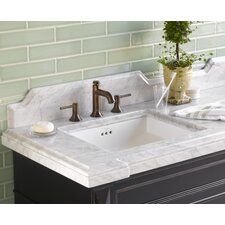 "Torino 73""  Vanity Top with Double Undermount Sink Cutout"