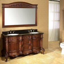 "Vintage Bordeaux 60"" Bathroom Vanity Set"