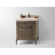 "Laurel 30"" Wood Cabinet Vanity Set"