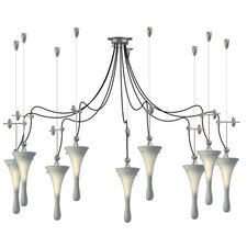 <strong>Lamp International</strong> Goccia Nine Light Pendant with Swag Kit