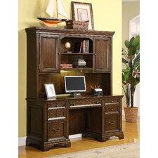 Woodlands Computer Desk with Hutch