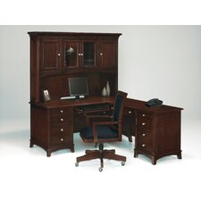 <strong>Wynwood Furniture</strong> Kennett Square L-Shape Executive Desk with Hutch