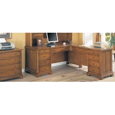 Halton Hills L-Shape Executive Desk with Lateral File