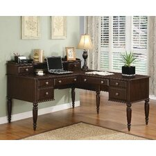 Lancaster L-Shaped Desk in Warm Cherry