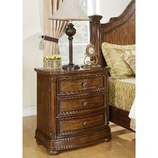 <strong>Wynwood Furniture</strong> Avonlea 3 Drawer Nightstand
