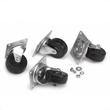 Portable Non-Locking Rack Caster Kit