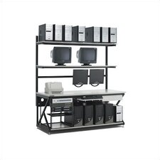 "72"" Performance LAN Station Workbench with Full Bottom Shelf"