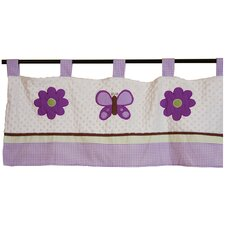 <strong>Pam Grace Creations</strong> Lavender Butterfly Curtain Valance