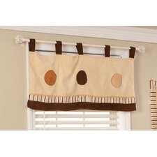 Cappuccino Cotton Blend Window Valance