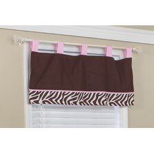 Zara Zebra Cotton Blend Window Valance