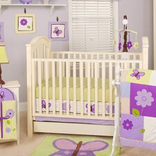 Lavender Butterfly 10 Piece Crib Bedding Set