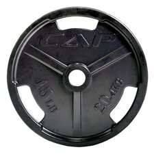 "<strong>Cap Barbell</strong> 2"" Black Rubber Coated Grip Plate"