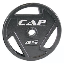 "<strong>Cap Barbell</strong> 2"" Black Grip Plates"