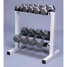 <strong>Cap Barbell</strong> 150 lbs Solid Hex Dumbbell Set with Rack