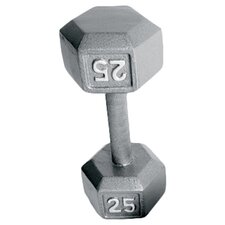 Grey Solid Hex Dumbbell