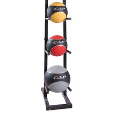 24 lbs Colored Medicine Ball Set with Rack