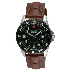 Sport 7 Watch with Black Dial, Bezel and Brown Strap