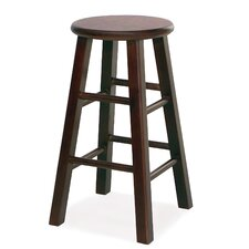 "Favorite Finds 24"" Round Wood Counter Stool (Set of 2)"