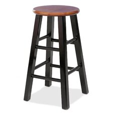 """Favorite Finds 24"""" Round Wood Counter Stool (Set of 2)"""