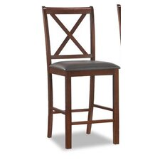 "<strong>Leick Furniture</strong> Crossback 25"" Bar Stool (Set of 2)"