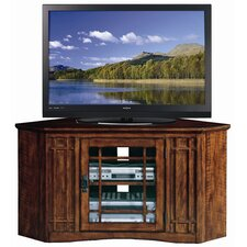 "47"" Corner Plasma TV Stand in Mission Oak"