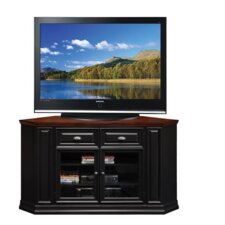 <strong>Leick Furniture</strong> Black Cherry 62 Corner TV Console