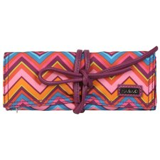 Cassandra Zigzag Coated Roll Jewelry Pouch