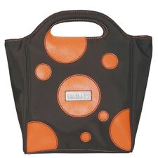 Nylon Insulated Lunch Pod in Bubbles Orange