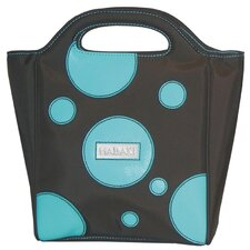 Nylon Insulated Lunch Pod in Bubbles Blue