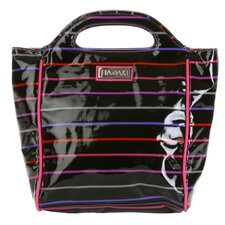 Insulated Lunch Pod Coated in Pencil Stripes Berry