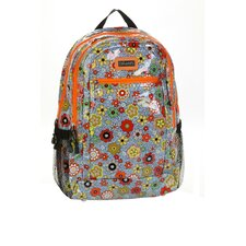 Cool Backpack Coated in Floral Swirl