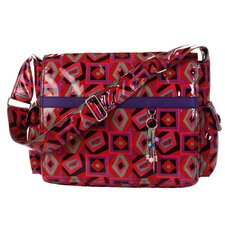 Padded Multitasker Tic Tac Toe Messenger Bag