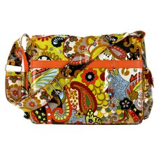 Padded Multitasker Hannah's Paisley Messenger Bag