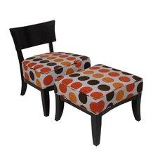 Metro Fabric Slipper Chair and Ottoman