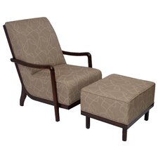 <strong>Carolina Accents</strong> Manhattan Fabric Lounge Chair and Ottoman
