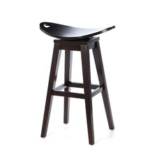 "Thoroughbred 32"" Backless Swivel Bar Stool in Espresso"