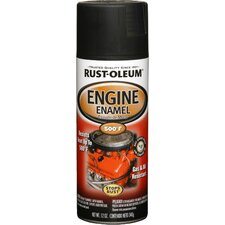 12 Oz Low Gloss Black Engine Enamel Spray Paint 248938