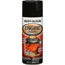 12 Oz Gloss Black Engine Enamel Spray Paint 248932