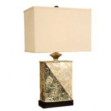 """Capiz Shell 25"""" H Table Lamp with Rectangle Shade"""