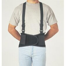 "<strong>Allegro</strong> Black Economy Belt 8"" Back Support w/Suspenders Size Large 38"" To 47"""